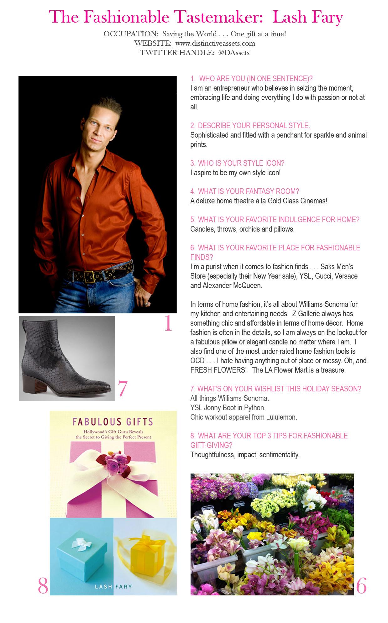 The Fashionable Tastemaker: Lash Fary
